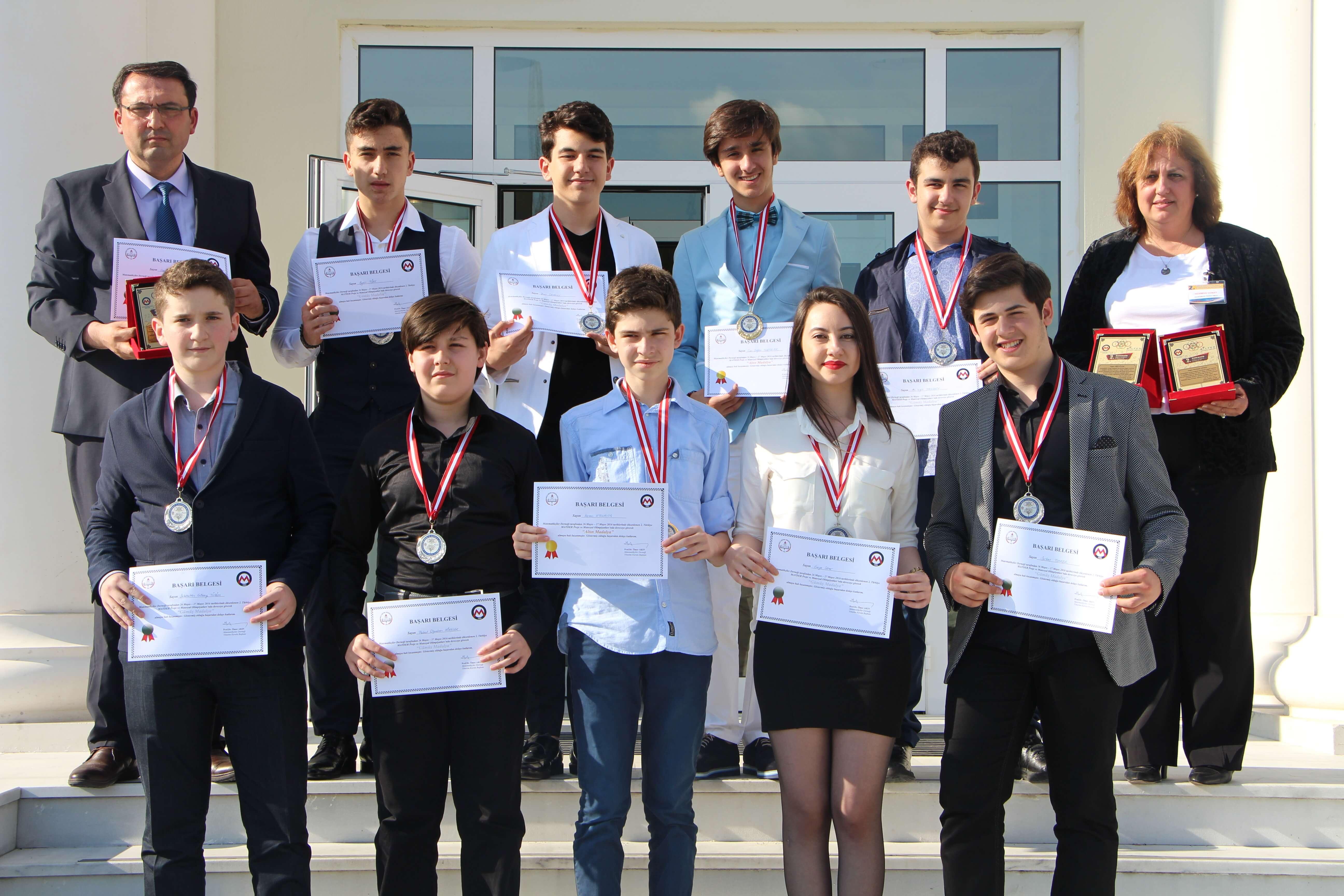 Türkiye MATDER Proje ve Materyal Olimpiyatlarından 1 Altın 4 Gümüş Madalya İle Döndük