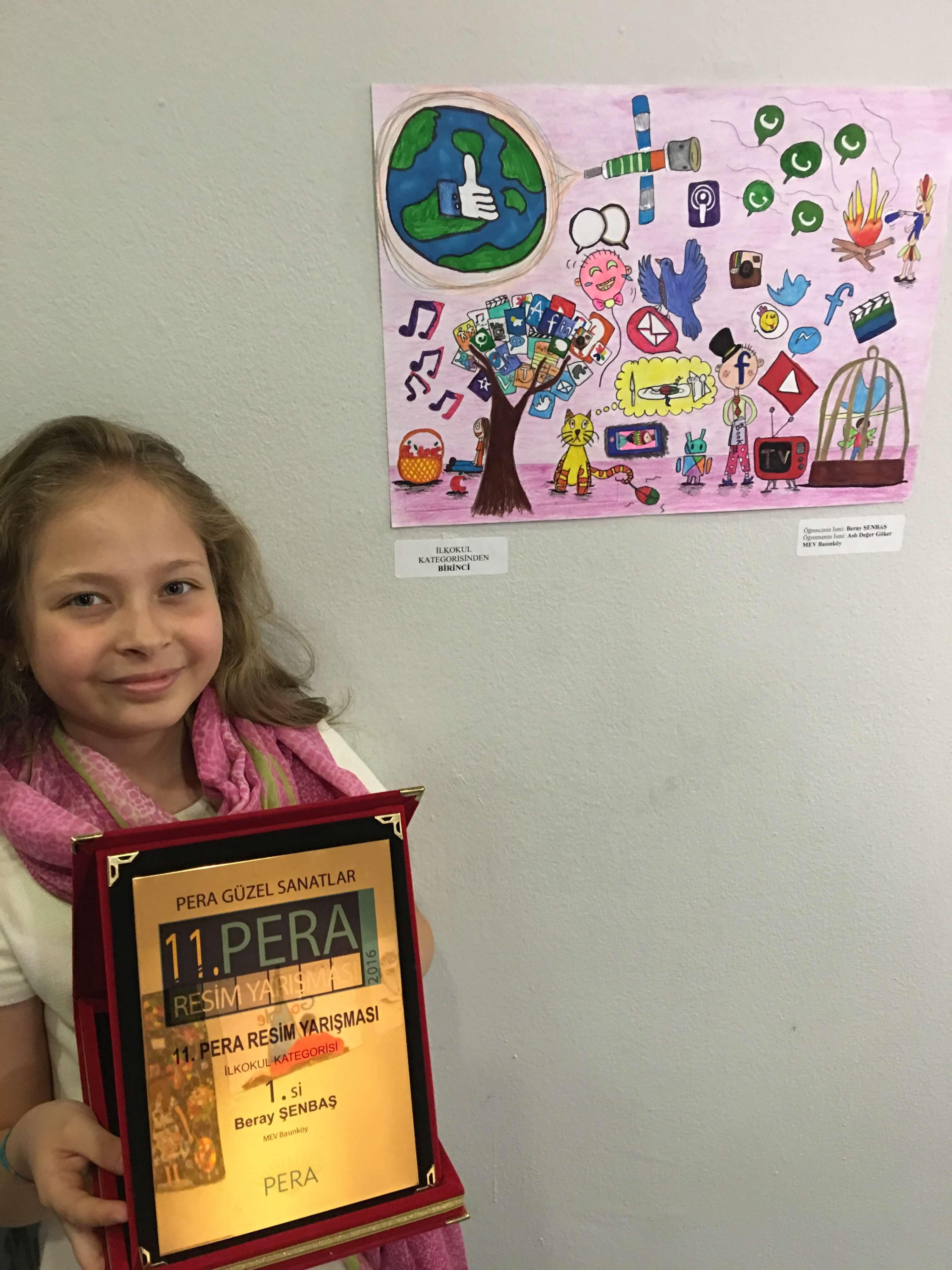 Öğrencimiz Resim Yarışmasında Türkiye Birincisi Oldu