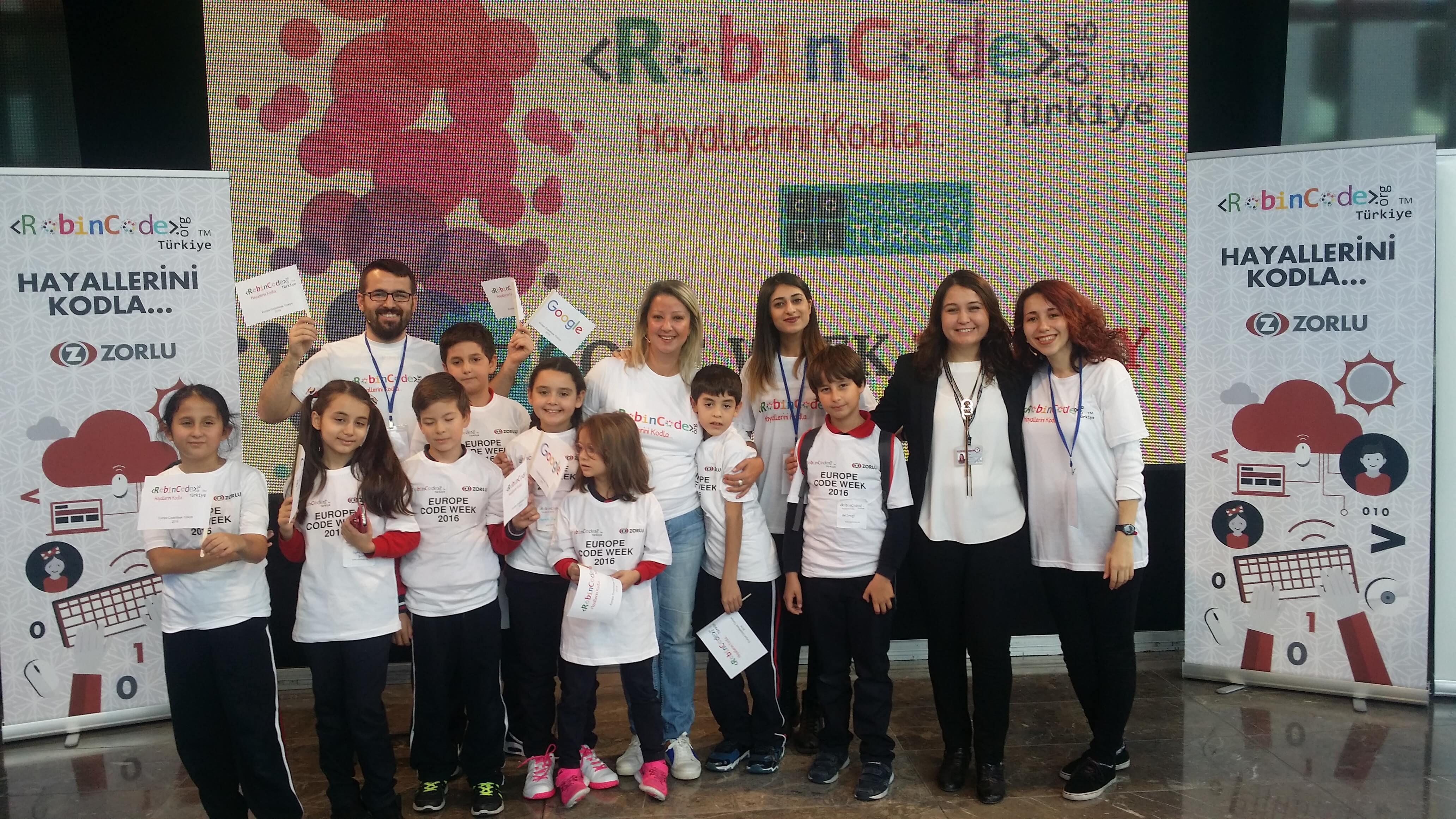 """Öğrencilerimiz """"Europa CodeWeek Turkey"""" Etkinliğine Misafir Oldu"""
