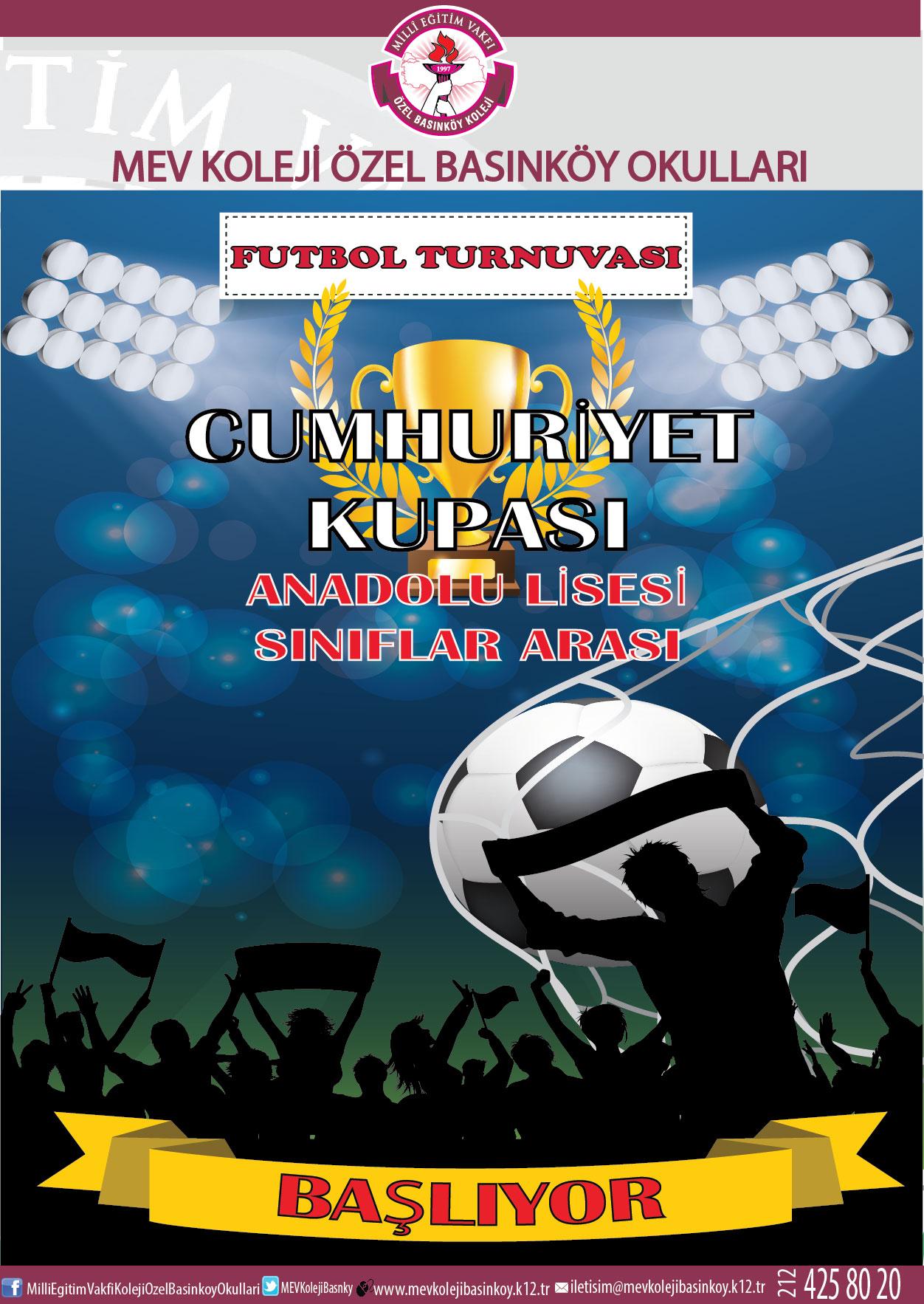 Anadolu Lisesi Sınıflararası Cumhuriyet Kupası Futbol Turnuvamız Başlıyor