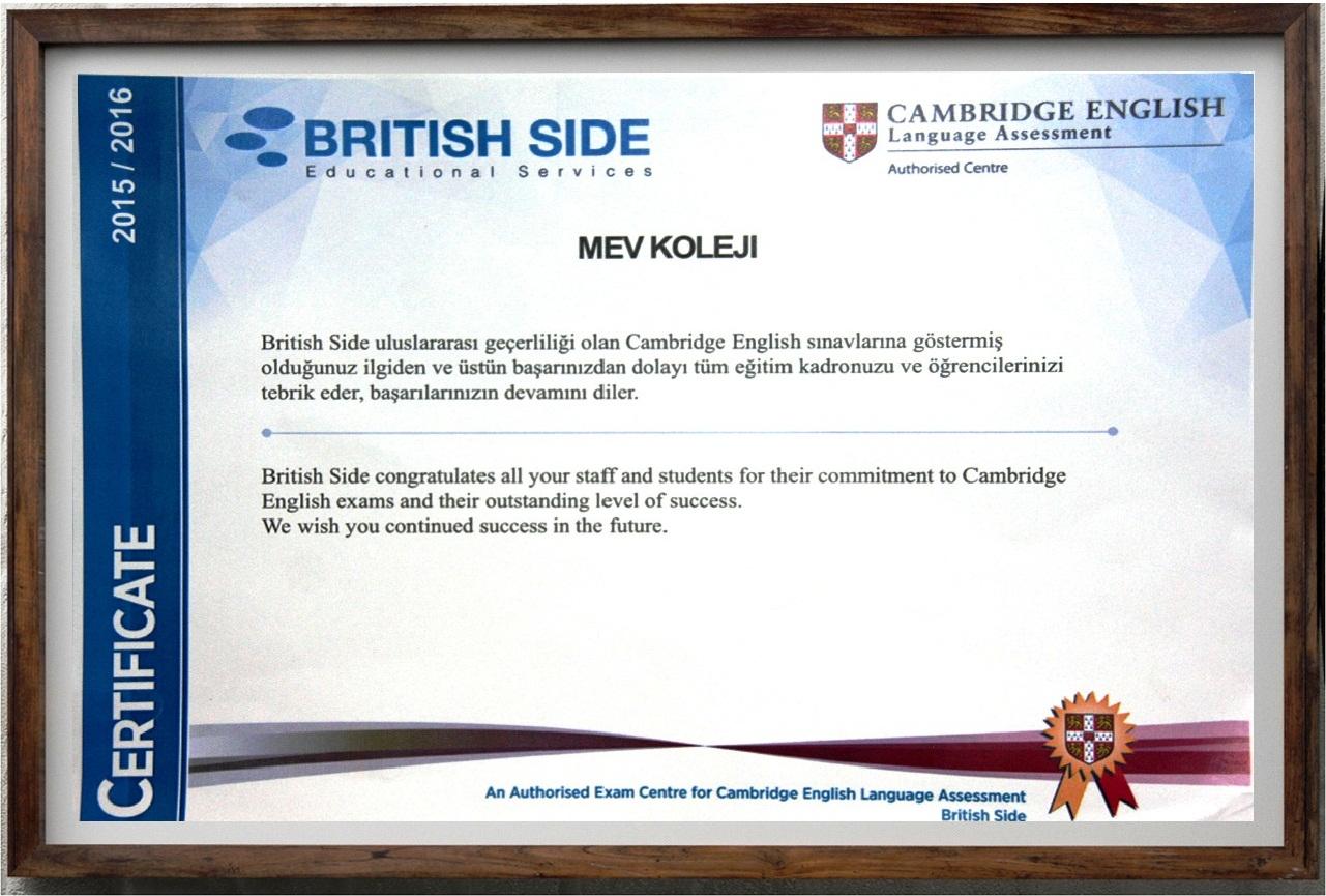 Cambridge YLE, KET ve PET Sınavlarında Başarılı Olan Öğrencilerimize Sertifikaları Törenle Verildi