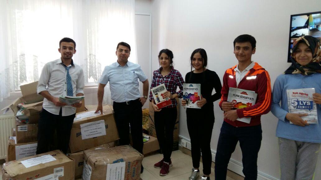 Kitaplarımız Kahramanmaraş Pazarcık Atatürk Anadolu Lisesi'ne Ulaştı