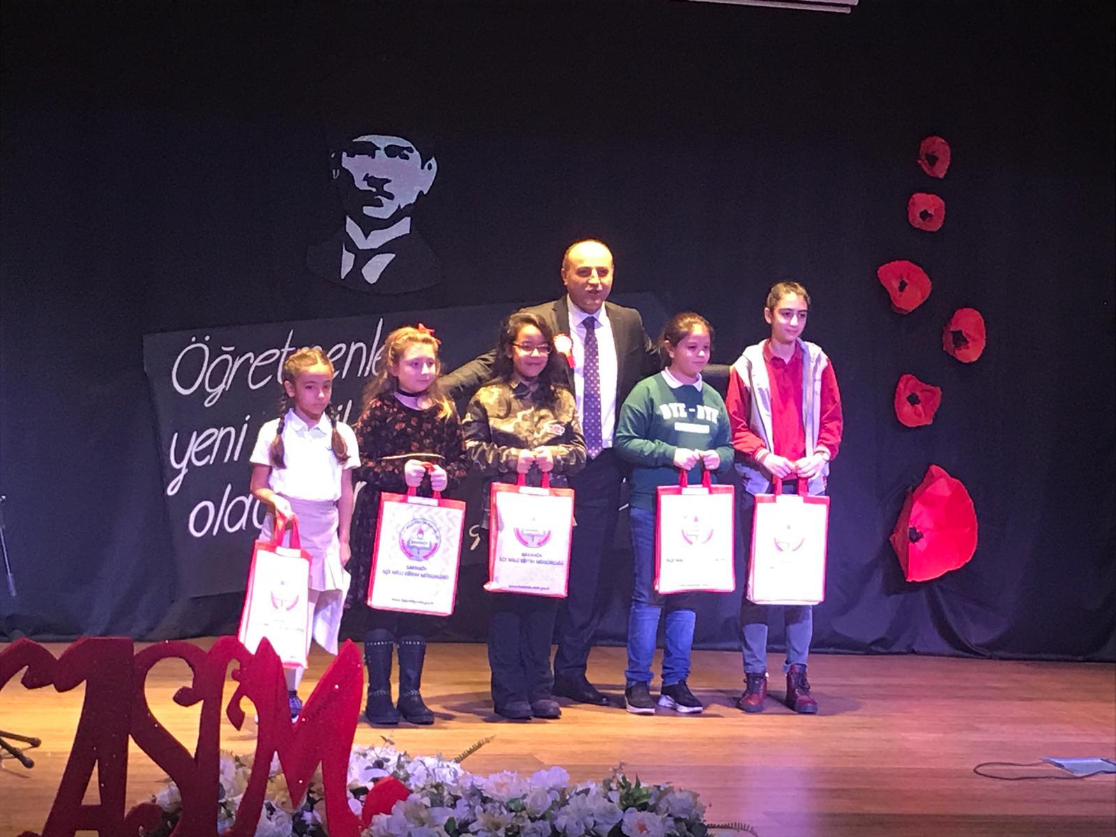 24 Kasım Benim Öğretmenim Konulu Şiir Yarışması İlçe İkinciliği