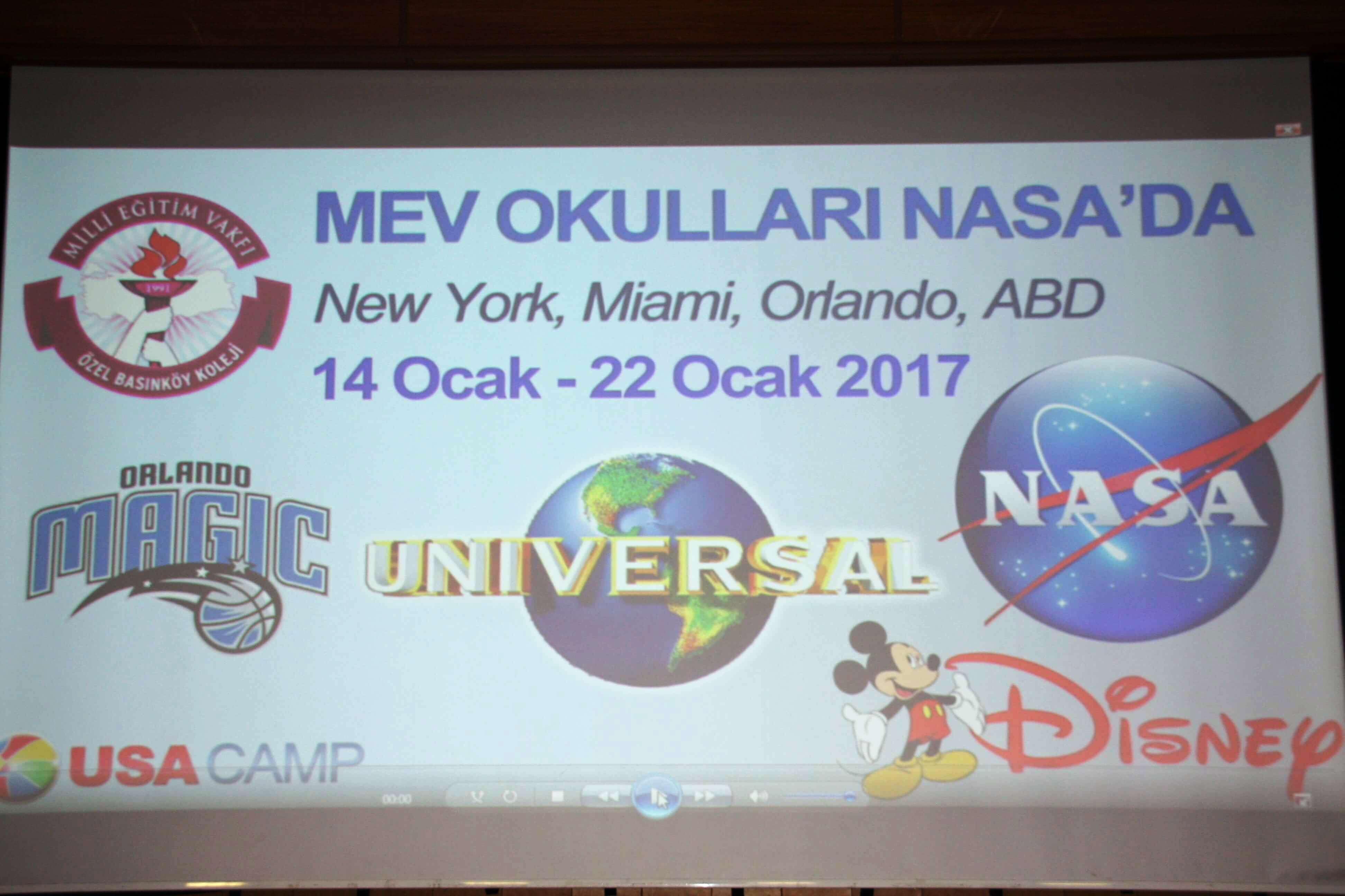 Öğrencilerimize Bilimsel NASA Gezisi için Eğitim Semineri Düzenlendi