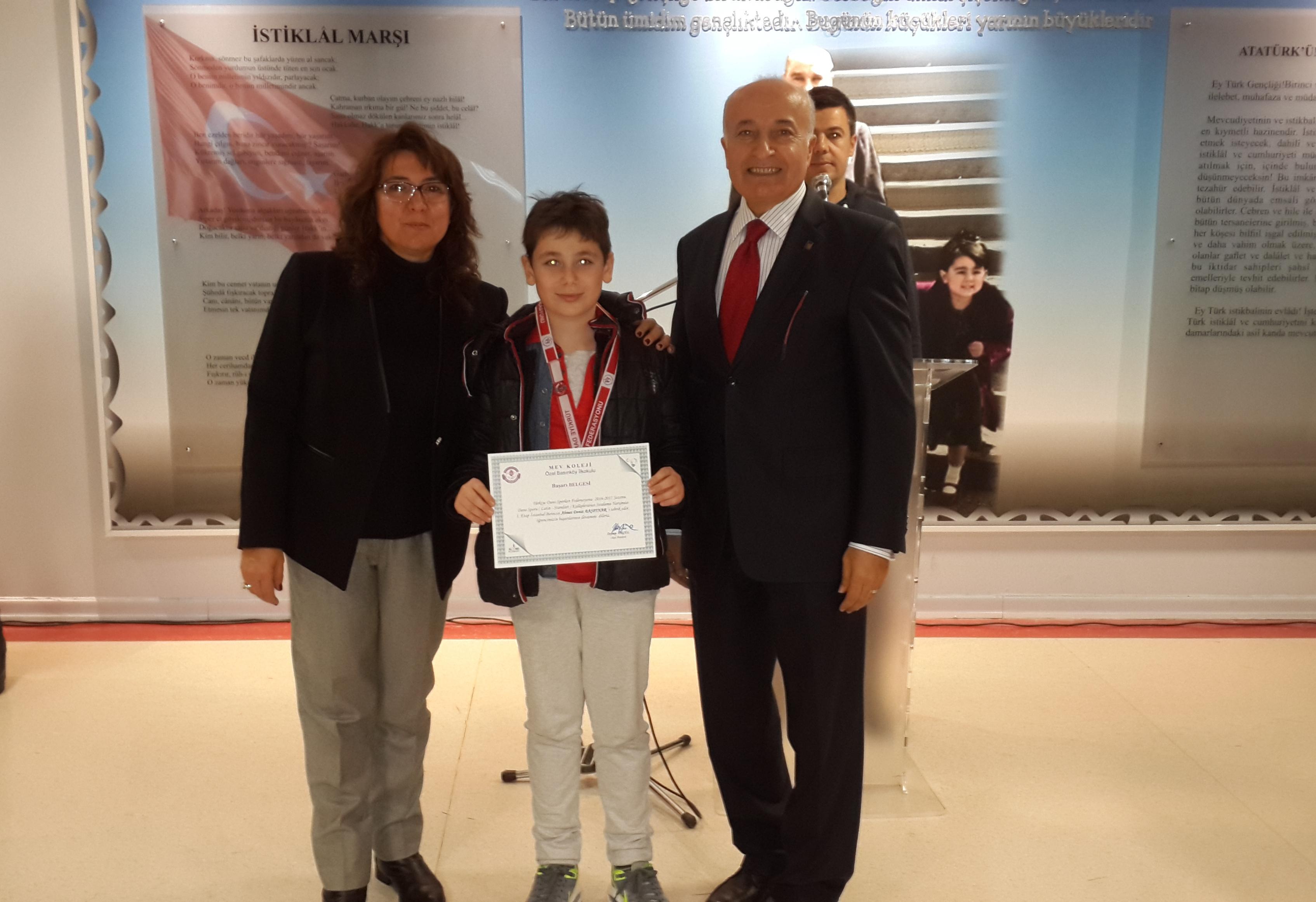 Öğrencimiz Ahmet Deniz Başpınar Kulüpler Arası Dans Yarışmasında İl Birincisi Oldu