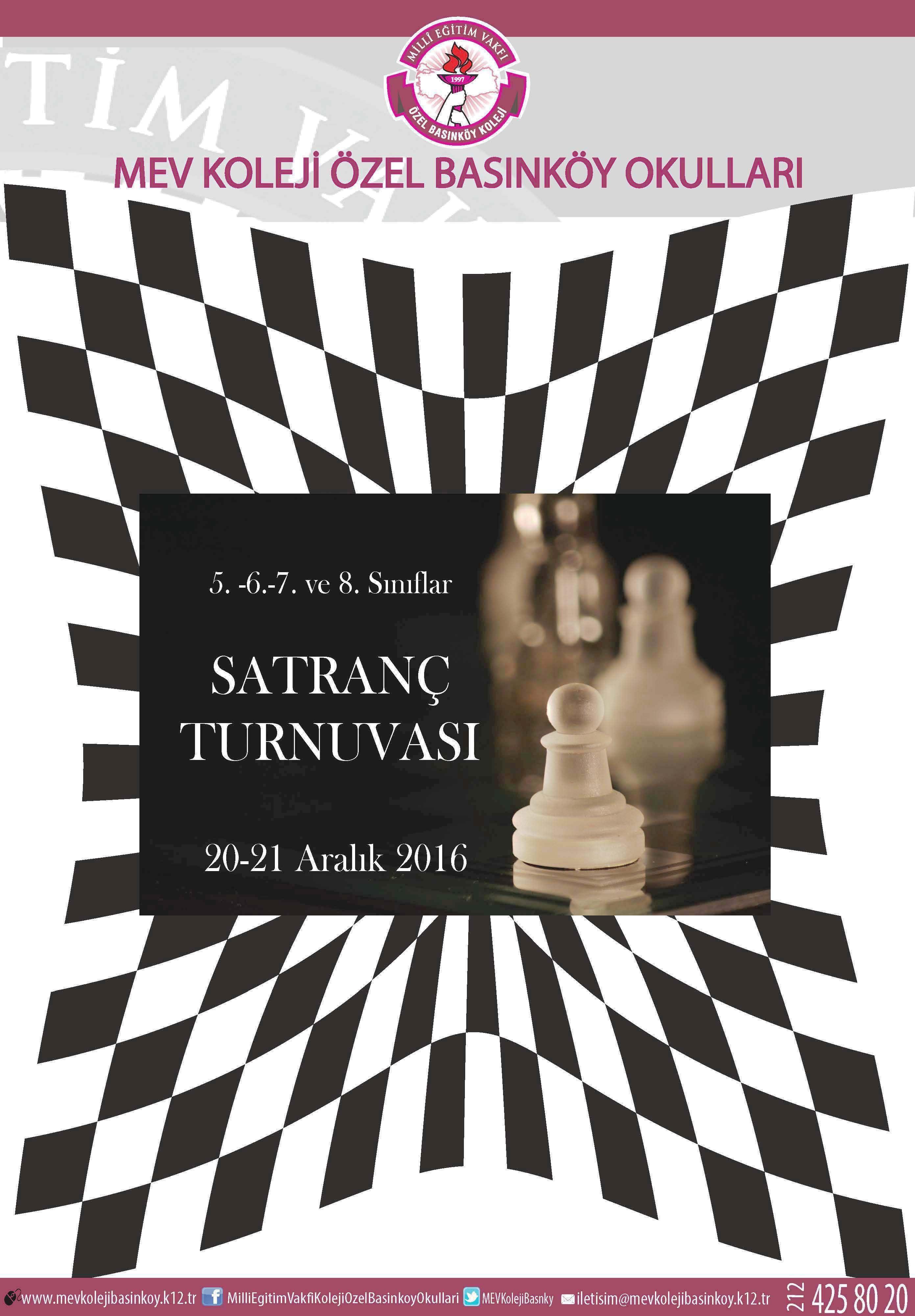 5.-6.-7. ve 8. Sınıflar Satranç Turnuvamız Yarın Başlıyor