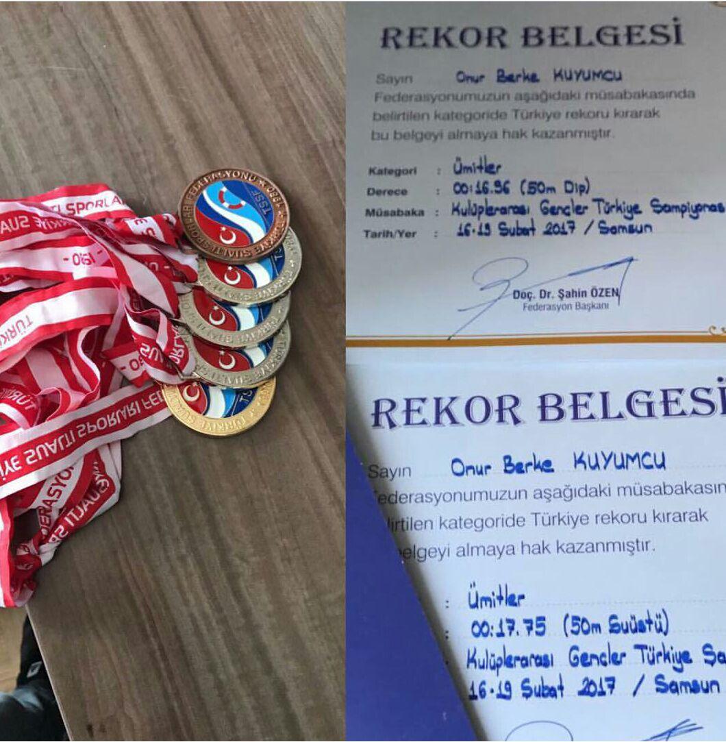 Öğrencimiz Onur Berke Kuyumcu Türkiye Yüzme Şampiyonası'nda Yeni Rekorlara İmza Attı