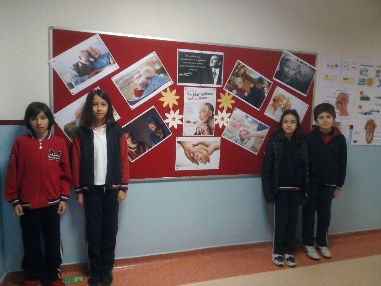 Öğrencilerimizle Yaşlılar Haftasını Kutladık
