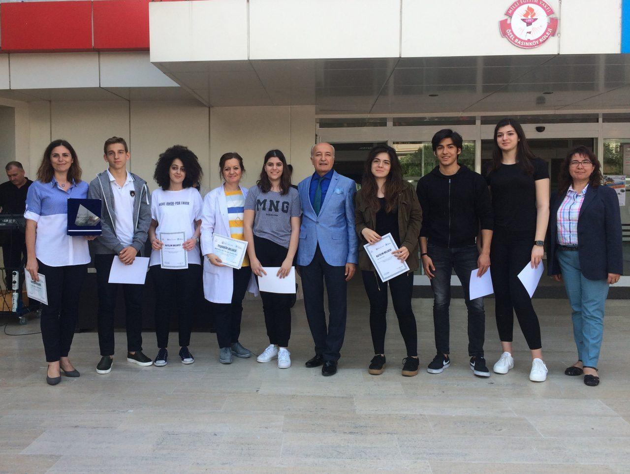 4.Bilim ve Fikir Festivali'ne Katılan Anadolu Lisesi Öğrencilerimize Sertifikaları Törenle Verildi