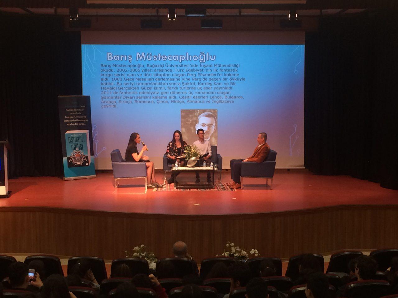 Yazar Barış Müstecaplıoğlu'nu Okulumuzda Ağırladık