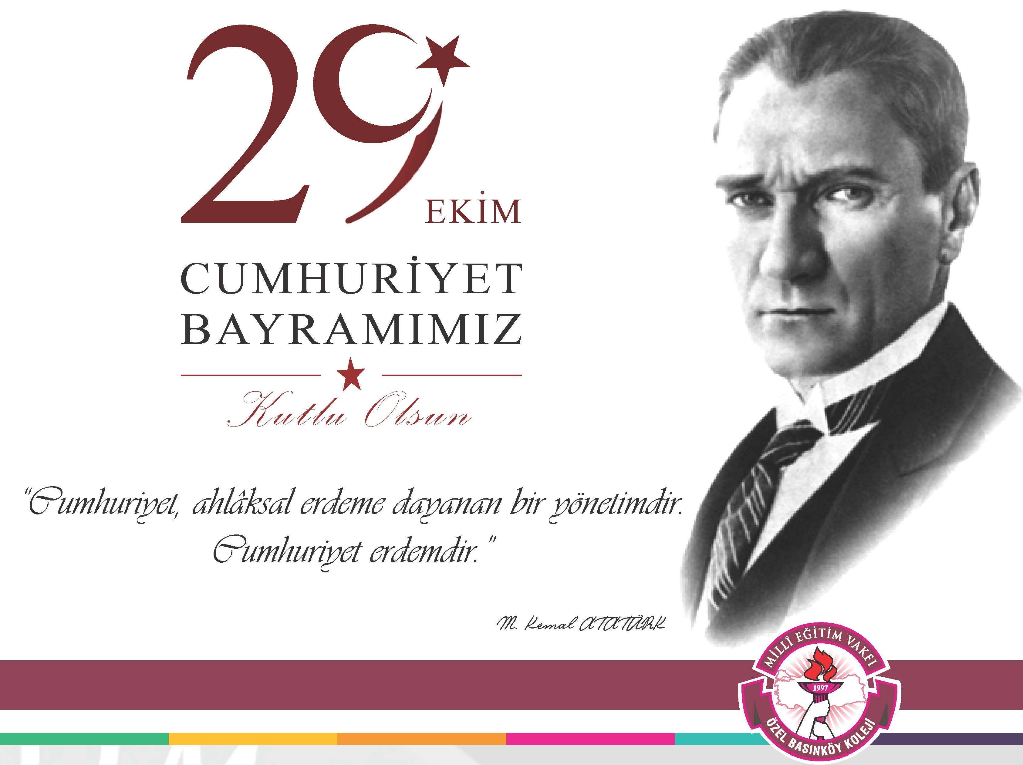 Milli Eğitim Vakfı Yönetim Kurulu Başkanımız Sayın İhsan Özçukurlu'nun 29 Ekim Cumhuriyet Bayramı Mesajı