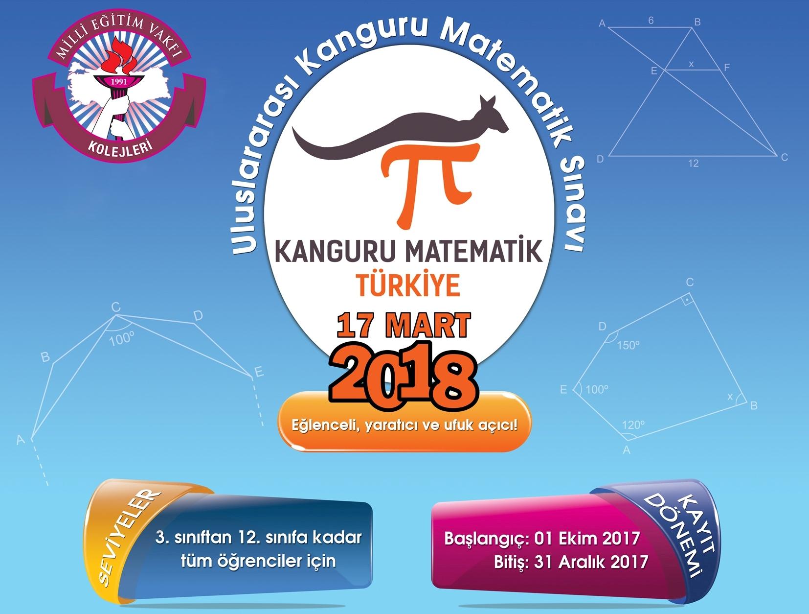 Uluslararası Kanguru Matematik Sınavına Ev Sahipliği Yapıyoruz
