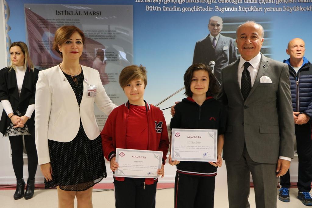 Okul Öğrenci Meclis Başkanlarına Mazbataları Verildi