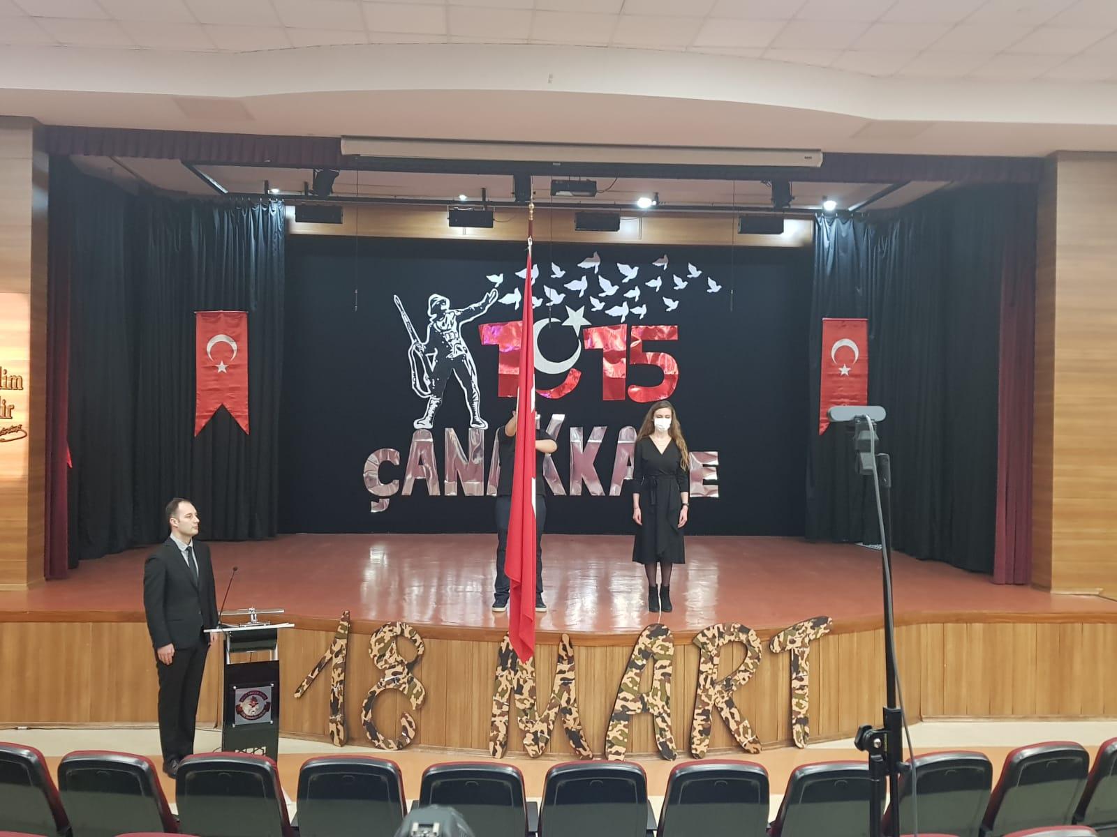 18 Mart Şehitleri Anma Günü ve Çanakkale Deniz Zaferi Törenimiz